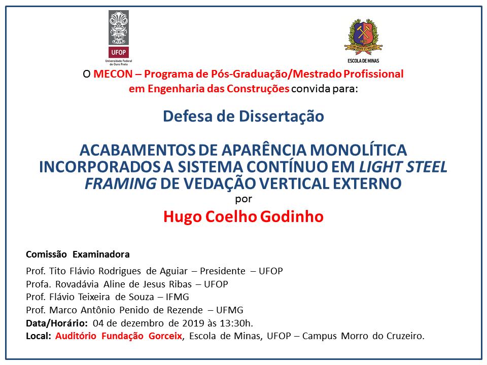 Convite Hugo Coelho